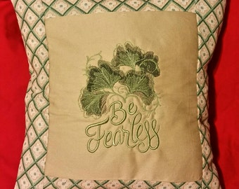 pillow cover Be fearless embroidered throw cushion cover