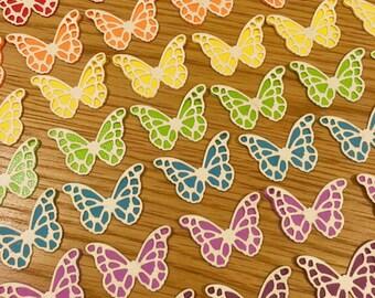 Butterflies in a range of colours