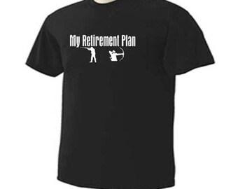 HUNTING My RETIREMENT PLAN  Retired Retire Outdoor Hunter Sport T-Shirt