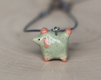 Tiny Poodle Dog Pendant