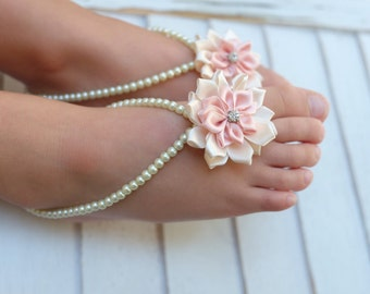 Baby Barefoot Sandals Baby Foot Jewelry Baby Shoesflower