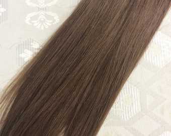 "Medium brown (6)  100% human hair clip in extensions   14""  18""  20"""