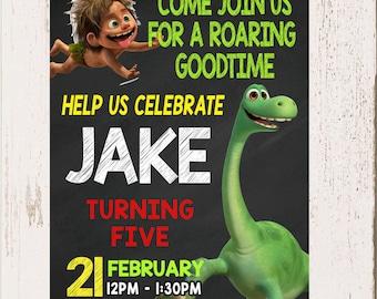 THE GOOD DINOSAUR Invitation, The Good Dinosaur Invite, Dinosaurs, Invite, Invitation,  Diy
