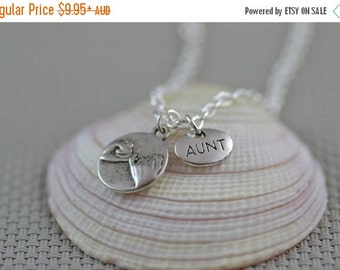 SALE Pinky Promise Aunt Necklace, Pinkie, auntie, family, best friend, BFF , NP013