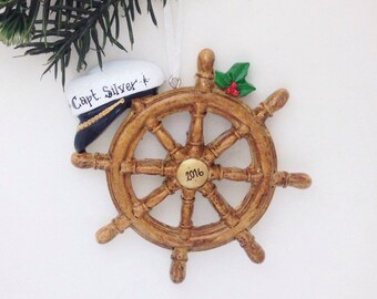 Boat Captain Personalized Christmas Ornament / Boat Ornament / Boating / Yachting / Personalized Ornament