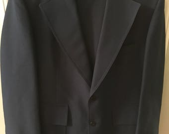 Vintage Men's Navy Blue Suit Made by Manstyle from Belk