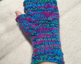 Cabled Peacock Arm Warmers