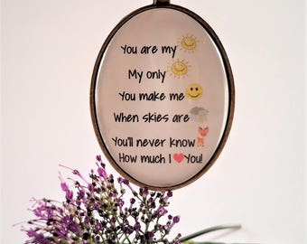 You Are My Sunshine Verse Necklace