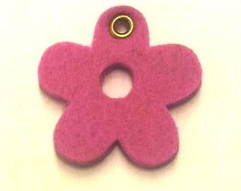 Pink flower felt T24
