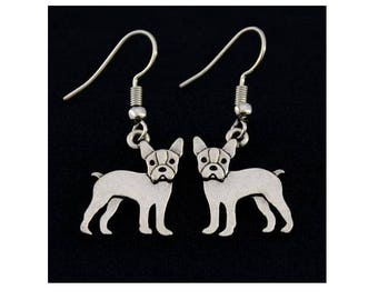 Boston Terrier Charm Earrings