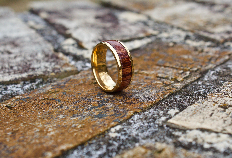 FREE Shipping Wood Ring Wood Wedding Band Mens Wooden Band