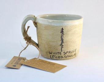 BC White Spruce Mug (Raw Blackbird and Snowy White)