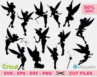 Tinkerbell svg, Tinkerbell cricut, Fairy svg, Fairy cricut, Disney svg, Disney cricut, Disneyland svg, Peter Pan svg, Tinkerbell silhouette