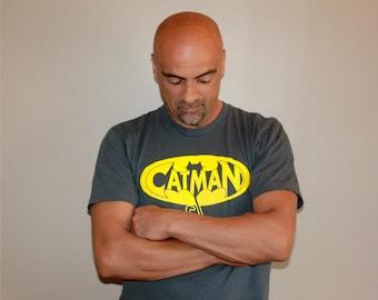 Mens funny tshirt, Cat shirt, funny tshirts, superhero, boyfriend gift, cat dad, funny tees, cats, mens tshirt, CatMan, gift for dad, rctees