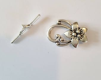 Flower 20x30mm jewelry Toggle clasp. (8086297)