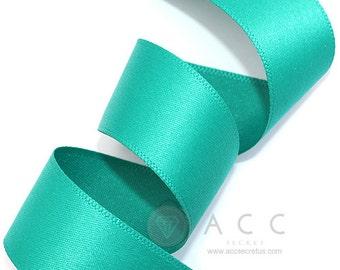 5Yards Blue Green Single Faced Satin Ribbon - 10mm(3/8''), 15mm(5/8''), 25mm(1''), and 40mm(1 1/2'') - Semi Gloss Flat Satin