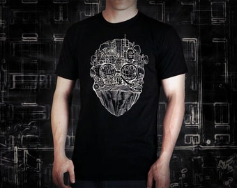 Berlin face black t shirt for men, screen printed men's short sleeve tee shirt, Size S,  M, L, XL, XXL