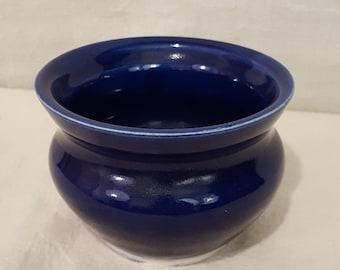 Handmade Cobalt Blue Porcelain Flared Vase - Wheel thrown -