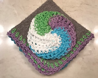 Hand Crochet Scrubby Set