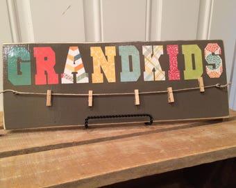 Photo Sign - Grandkids & Family