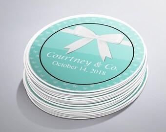 Breakfast at Tiffany's Stickers, Custom Labels, Bridal Shower Labels, Thank You Stickers, Bridal Shower Stickers