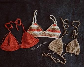 Tegan strappy top // crochet bikini // strappy bra