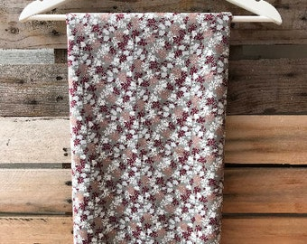 Burgundy and White Floral