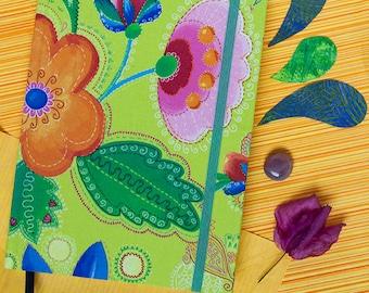 Pocket Notebook, Flower Journal, Travel Diary, Weekly Planner Journal, Midori Journal, Office Accessories, Graduation Gift, Cute Notebook