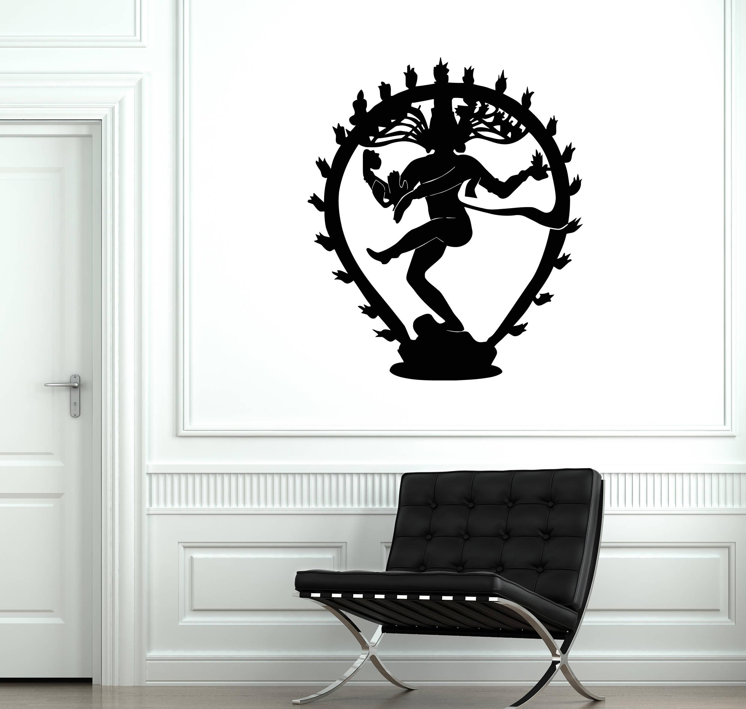 Shiva Vinyl Wall Decal Hinduism God India Hindu Decor Art - Custom vinyl decals india