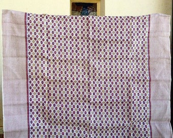 Vintage 1970's cotton weave tablecoth