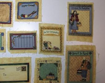 Quilt Labels, Sewing Labels, set of nine (9) labels