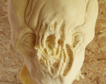 1972 Alien Latex Blank Casting, Mask Or Display Prop For You To Paint