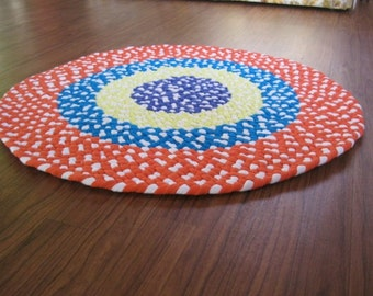 Made To Order Custom Hand Braided Nursery Round Rug-in you color choices