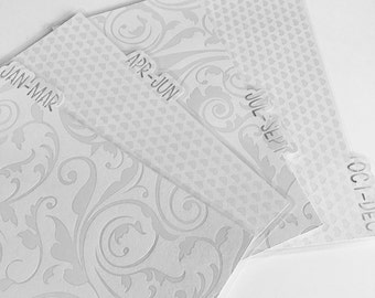 Planner monthly bookmark dividers - personal size, side or top tab