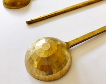 Handmade Nepali brass spoon and ladle
