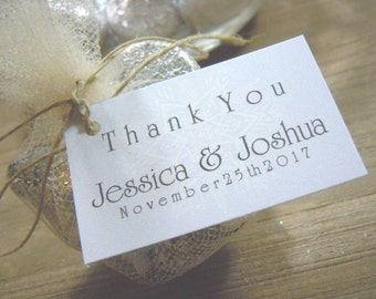 Thank You Favor Tags with Bride and Grooms Names Wedding Favors - Favor Tags - Thank you Tags - Personalized Favors - Bridal Tags
