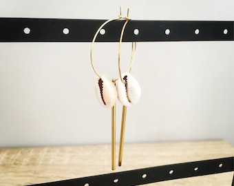 Earrings PLAYA 30 mm in diameter