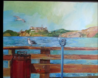 Seagulls at Alcatraz