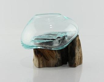 Teak Stump Vase - S