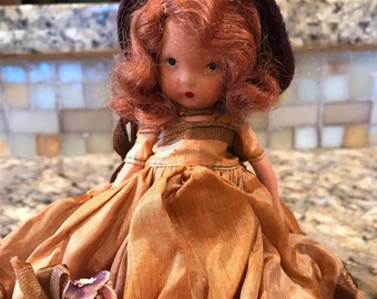 Nancy Ann Storybook dolls 1940's, Bisque, Doll of the Week Series, #183 Thursday's Child