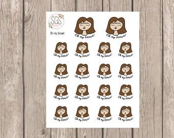 BROW STICKERS - Planner Stickers, Planner Stickers, Planner, Functional Stickers, waxing stickers, hand drawn stickers, eye brows