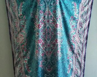Vintage paisley, floral and batik caftan.