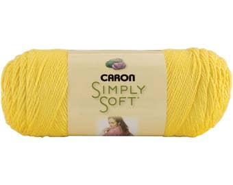 Simply Soft Solids Yarn Yellow Lemonade 9776