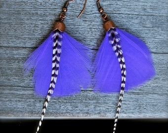 flat feather earrings
