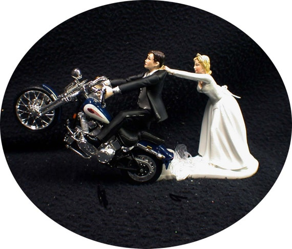 motorcycle wedding cake knife motorcycle wedding cake topper w blue harley davidson 17611