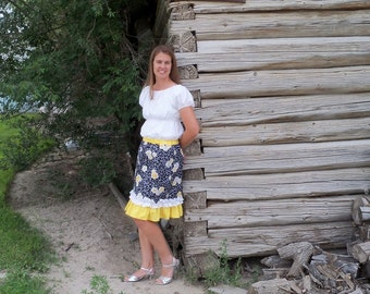 Izzy's Women's Double Ruffle Skirt PDF Pattern size XS to XL