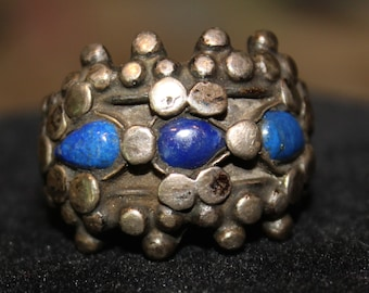 Antique Silver and Lapis Ring, Afghanistan