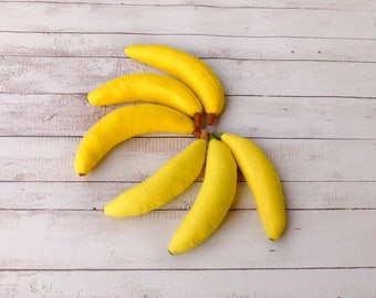 FULL SIZE Felt Banana Pretend Fruit Play Food Montessori Toys Vegetables For Kids Little Seller Greengrocer Soft Stuffed Toy