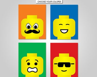 Lego Nursery Bedroom Wall Art   Lego Wall Art Decor   Prints   Canvas    Printable