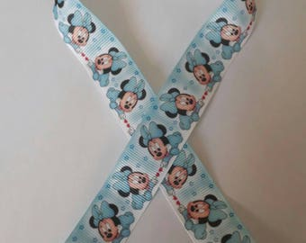 168 - Ribbon baby minnie - grosgrain - 22 mm sold by 50 CM - Baby minnie ribbon